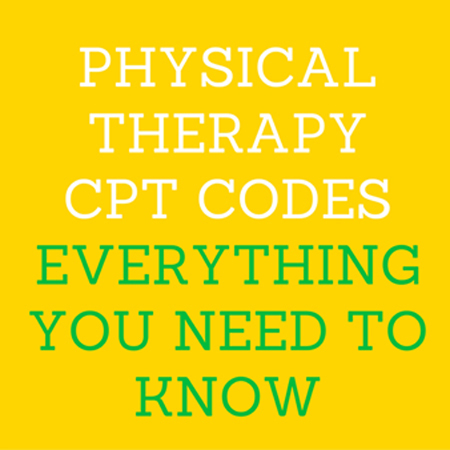 physical therapy CPT codes